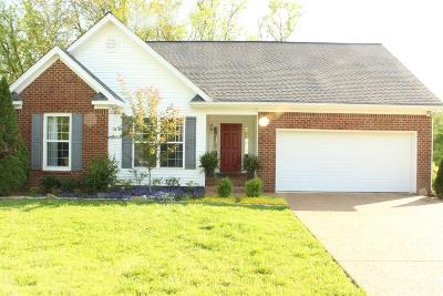 Thompsons Station  Single Family Home Under Contract - Not Showing: 1301 Branchside Ct