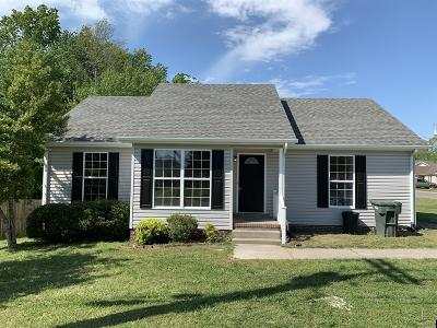 Robertson County Single Family Home Under Contract - Not Showing: 167 Sleepy Hollow Dr