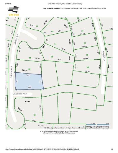 Mount Juliet Residential Lots & Land For Sale: 2301 Oakforest Way