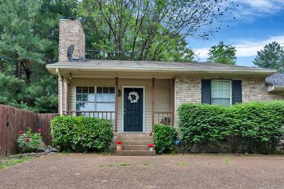 Nashville Single Family Home Under Contract - Not Showing: 5507 Hill Ct