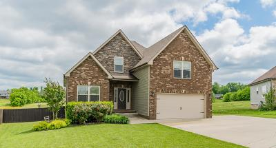 Adams, Clarksville, Springfield, Dover Single Family Home Under Contract - Not Showing: 1340 Canyon Pl