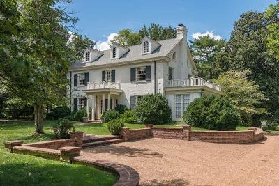 Nashville Single Family Home Under Contract - Not Showing: 1111 Belle Meade Blvd