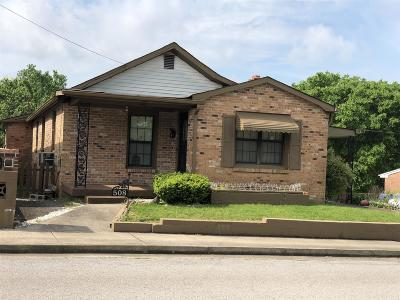 Clarksville Single Family Home Under Contract - Not Showing: 508 Washington Ct