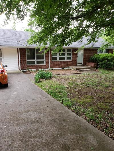 Clarksville Single Family Home Under Contract - Not Showing: 1018 Davidson Dr