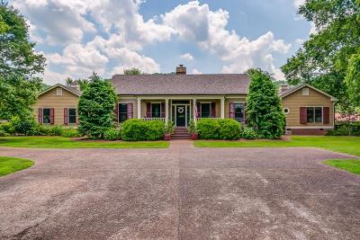 Franklin Single Family Home For Sale: 5406 Leipers Creek Rd