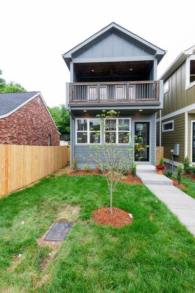 Nashville Single Family Home Under Contract - Showing: 1921 A 14th Ave N