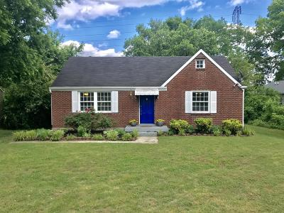 East Nashville Single Family Home Under Contract - Showing: 2001 Tammany Drive