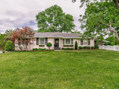 Nashville Single Family Home Under Contract - Showing: 5217 Trousdale Dr