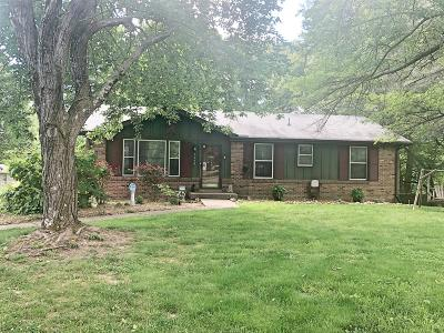 Clarksville Single Family Home Under Contract - Not Showing: 3106 E Old Ashland City Rd