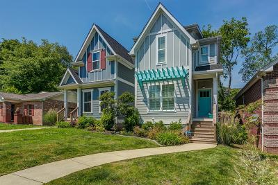 Nashville Single Family Home Under Contract - Showing: 2317 B N 23rd Ave