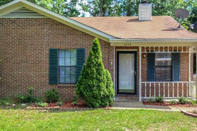Murfreesboro Single Family Home For Sale: 1214 Wenlon Dr