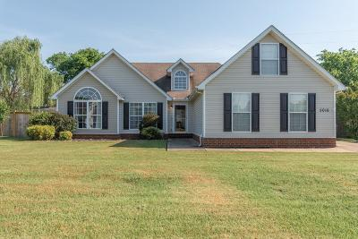 Murfreesboro Single Family Home Under Contract - Not Showing: 5016 Tricia Place