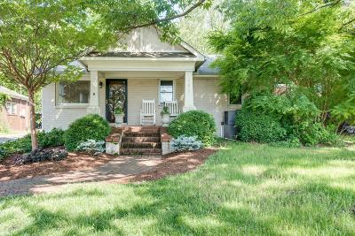 Nashville Single Family Home Under Contract - Showing: 3019 Brightwood Ave