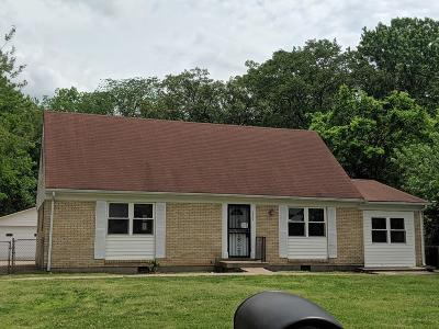 Clarksville TN Single Family Home For Sale: $109,500