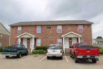 Christian County, Ky, Todd County, Ky, Montgomery County Condo/Townhouse Active Under Contract: 408 Jack Miller Blvd Apt C