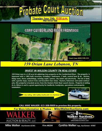 Lebanon Single Family Home For Sale: 159 Orian Ln