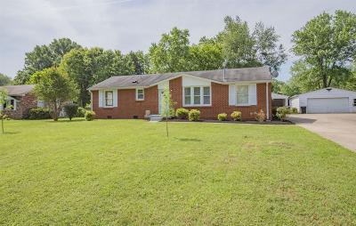 Murfreesboro Single Family Home Active Under Contract: 1606 Bartway Dr