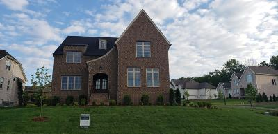 Nolensville Single Family Home For Sale: 100 Watertown Dr Lot 1014