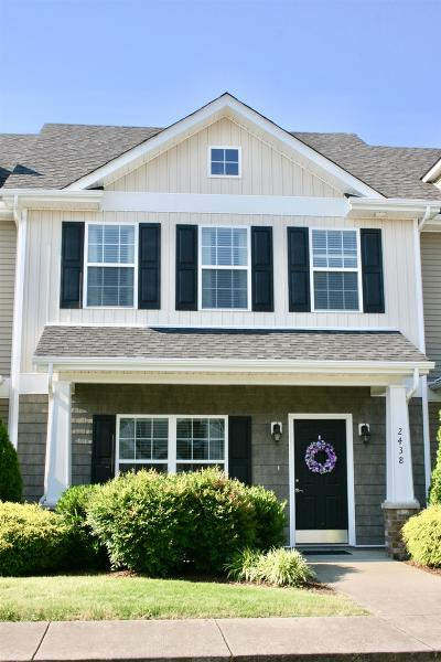 Murfreesboro Condo/Townhouse Active Under Contract: 2438 New Holland Circle