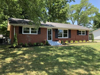 Murfreesboro Single Family Home Active Under Contract: 1807 Cypress Dr