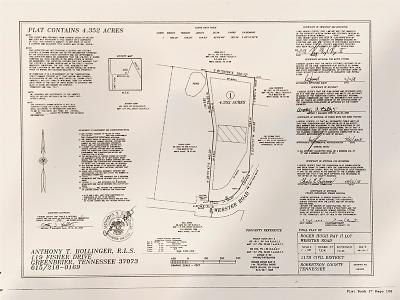 Robertson County Residential Lots & Land For Sale: Webster Rd