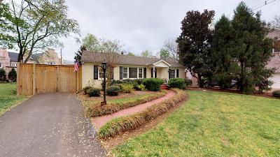 Nashville Single Family Home For Sale: 121 Clydelan Ct