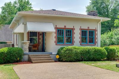 East Nashville Single Family Home Active Under Contract: 1608 Benjamin St