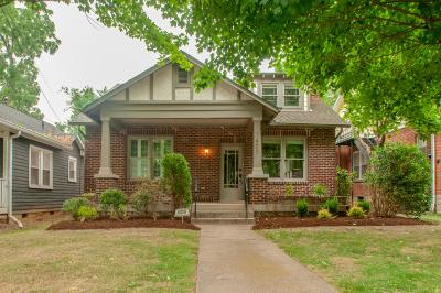 East Nashville Single Family Home Active Under Contract: 1407 Franklin Ave