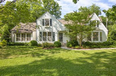 Belle Meade Single Family Home For Sale: 214 Scotland Pl
