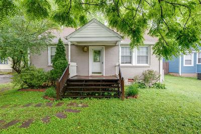 East Nashville Single Family Home Active Under Contract: 1405 Sharpe Ave