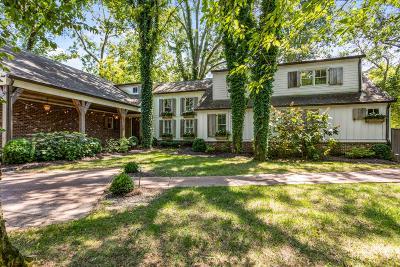 Nashville Single Family Home For Sale: 3907 Trimble Rd