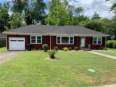 Murfreesboro Single Family Home For Sale: 707 Sunset Ave