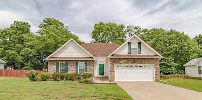 Clarksville Single Family Home Active Under Contract: 3880 Benjamin Dr