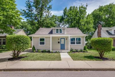Nashville Single Family Home For Sale: 1815 Underwood St.