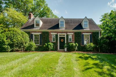 Nashville Single Family Home For Sale: 5 Carriage Hill
