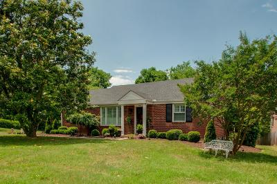 Nashville Single Family Home For Sale: 3925 Cross Creek Rd
