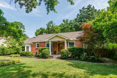 Nashville Single Family Home For Sale: 959 Graybar Ln