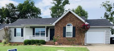 Murfreesboro Single Family Home For Sale: 102 Aretha Ct