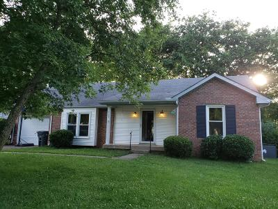 Clarksville Single Family Home Active Under Contract: 764 Hayden Dr