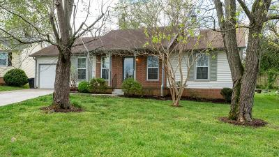 Franklin Single Family Home Active Under Contract: 1317 Mallard Dr