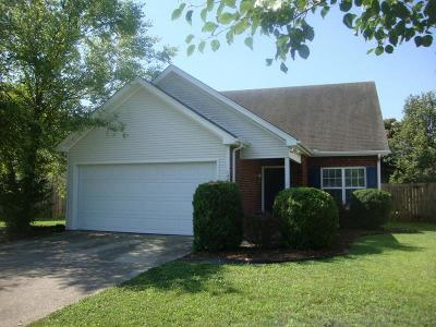 Murfreesboro Single Family Home Active Under Contract: 1446 Rochester Dr