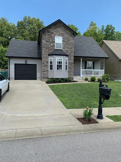 Clarksville Single Family Home Active Under Contract: 654 Fox Hound Dr