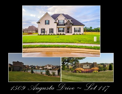 Single Family Home For Sale: 1509 Augusta Drive - Lot 117