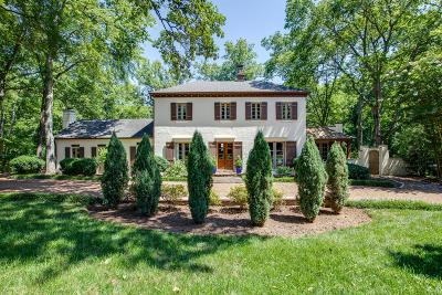 Nashville Single Family Home For Sale: 3702 Estes Rd