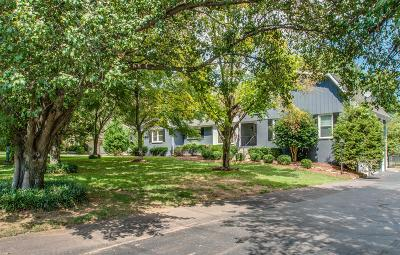 Franklin, Brentwood Single Family Home For Sale: 606 Wilson Pike