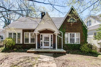 Nashville Single Family Home For Sale: 2615 Sunset Pl