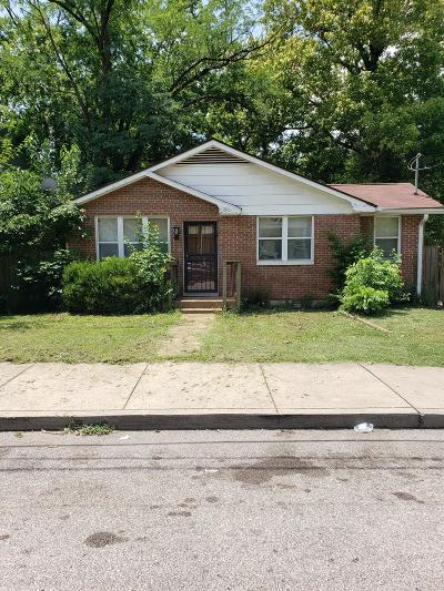 Nashville Single Family Home Active Under Contract: 1901 Cephas St