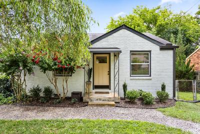 Nashville Single Family Home For Sale: 814 Washington Ave