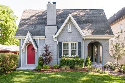 Nashville TN Single Family Home For Sale: $995,000