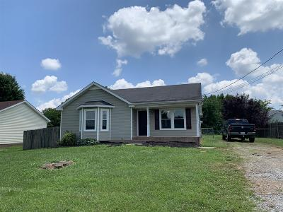 Christian County, Ky, Todd County, Ky, Montgomery County Single Family Home For Sale: 426 Jordan Rd